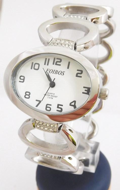 Dámské šperkové stříbrné hodinky s kamínky na pásku Foibos 52422 (POŠTOVNÉ ZDARMA!!)