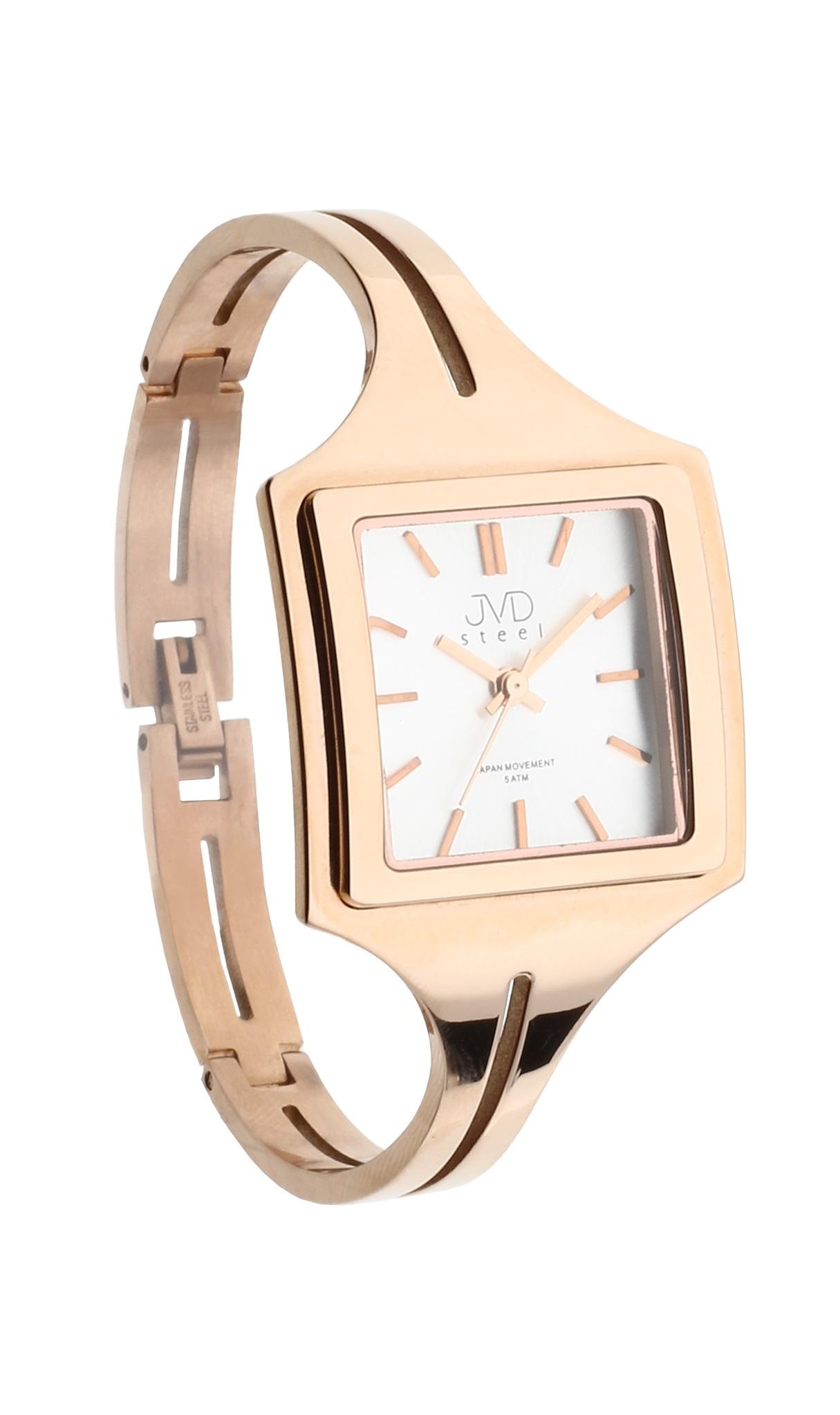 Luxusní dámské ocelové zlacené hodinky JVD steel J4092.3 (POŠTOVNÉ ZDARMA!!)