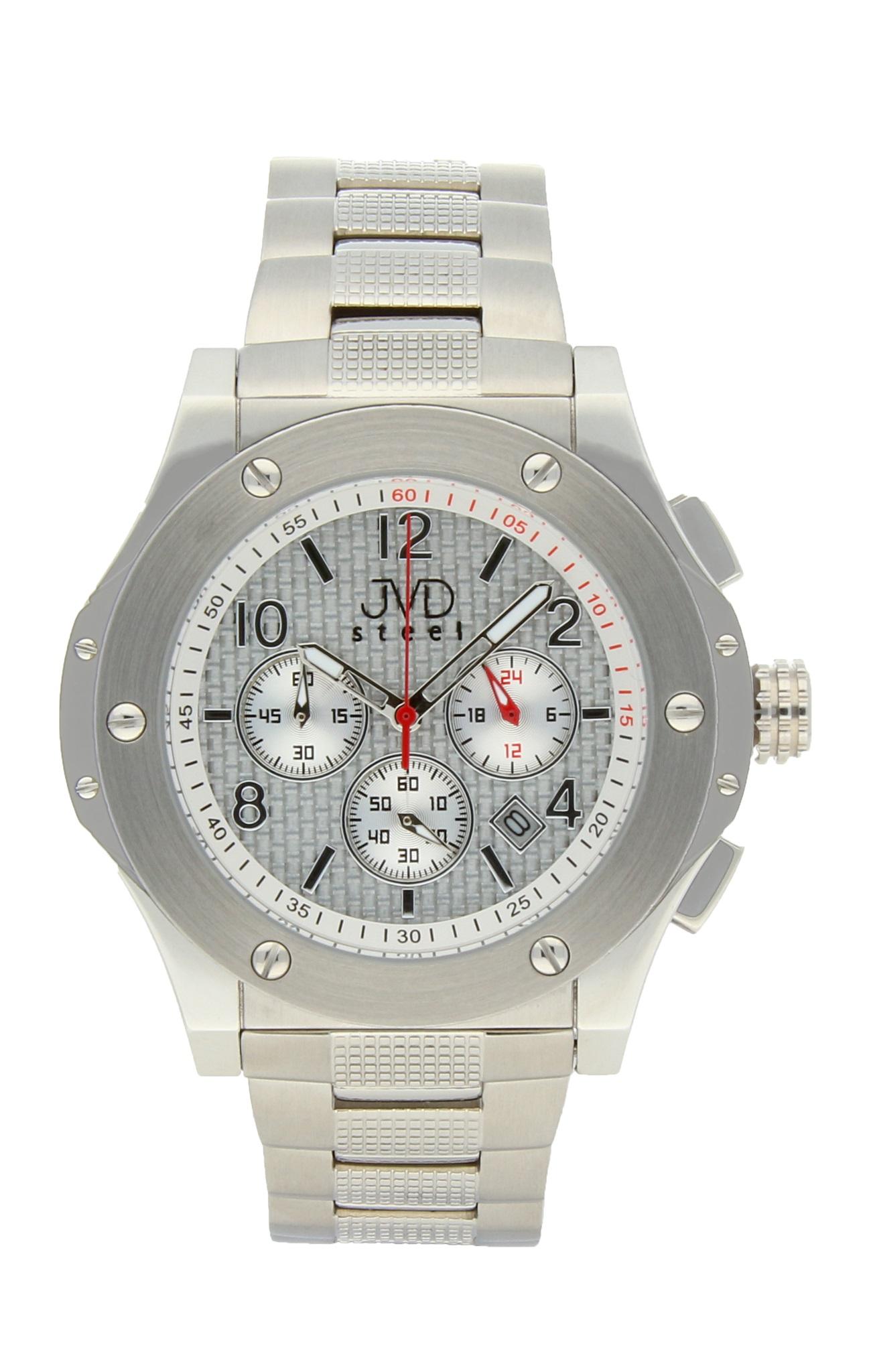 Luxusní pánské chronografy - vodotěsné hodinky Steel JVDC 732.1 (POŠTOVNÉ ZDARMA!! - 10ATM)