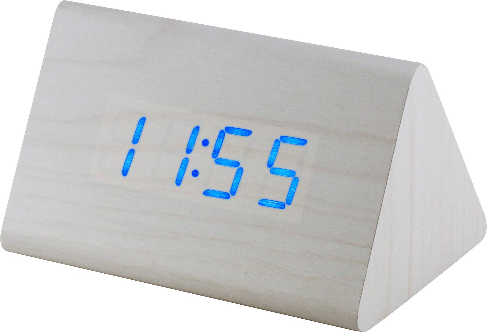 Digitální LED budík s datem a teploměrem MPM C02.3569 BLUE LED.00 - bílá
