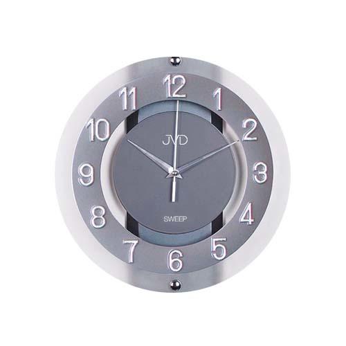 Luxusní skleněné netikající hodiny JVD NS2534.2 (netikající hodiny)
