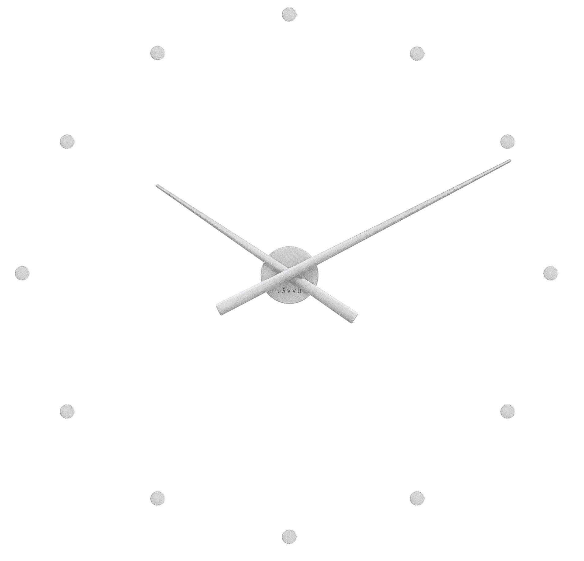 Stříbrné nalepovací hodiny na zeď LAVVU 3D STICKER Silver Dots LCT1020 ( stříbrné nalepovací hodiny průměr 73cm)