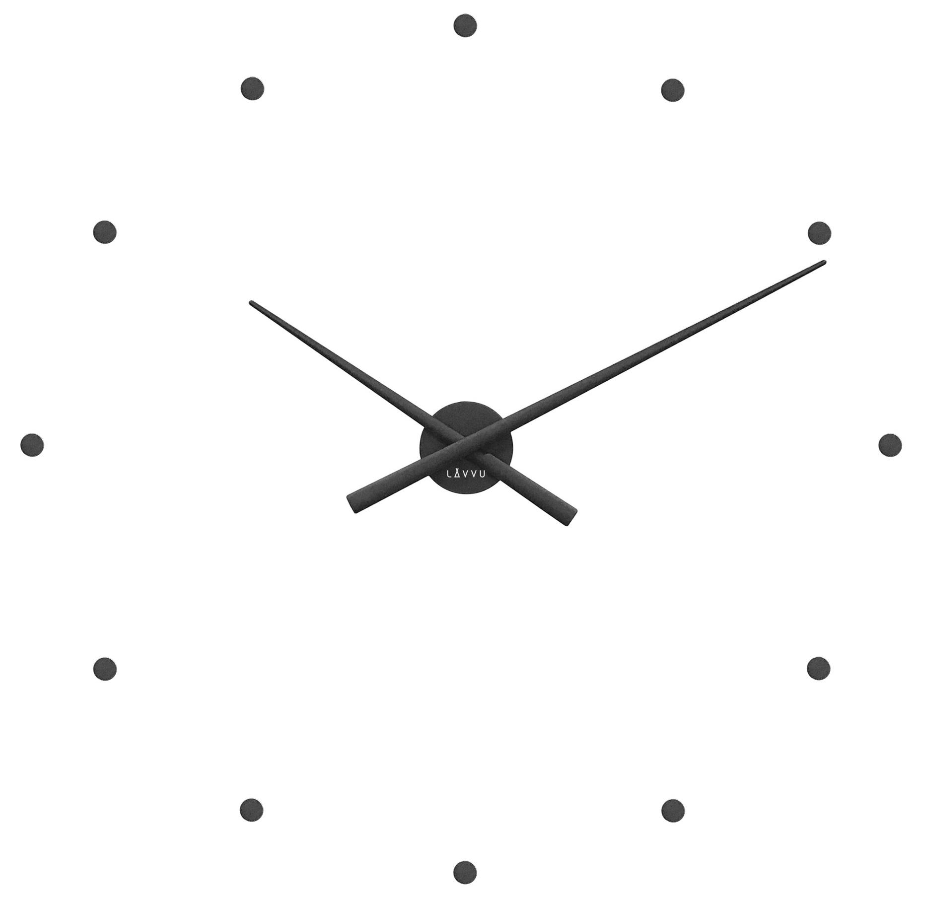 Černé nalepovací hodiny na zeď LAVVU 3D STICKER Black Dots LCT1021 ( černé nalepovací hodiny průměr 73cm)