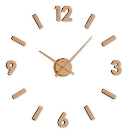 Měděné designové nástěnné nalepovací hodiny JVD HC20.2 (měděné levné nalepovací hodiny)