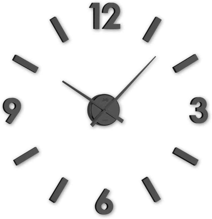 Černé designové nástěnné nalepovací hodiny JVD HC20.3
