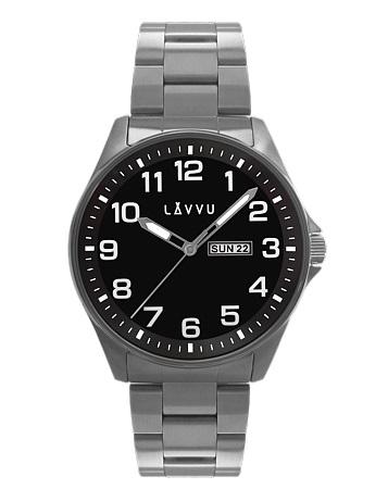 Vodotěsné ocelové pánské hodinky LAVVU BERGEN Black LWM0012 (POŠTOVNÉ  ZDARMA!!) ab4ef74382