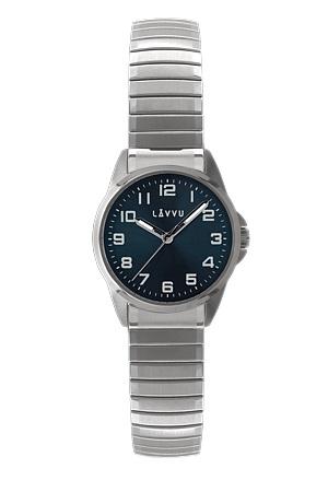 Pružné přehledné dámské hodinky LAVVU STOCKHOLM Small Blue LWL5011 (POŠTOVNÉ ZDARMA!! - natahovací pérový pásek)