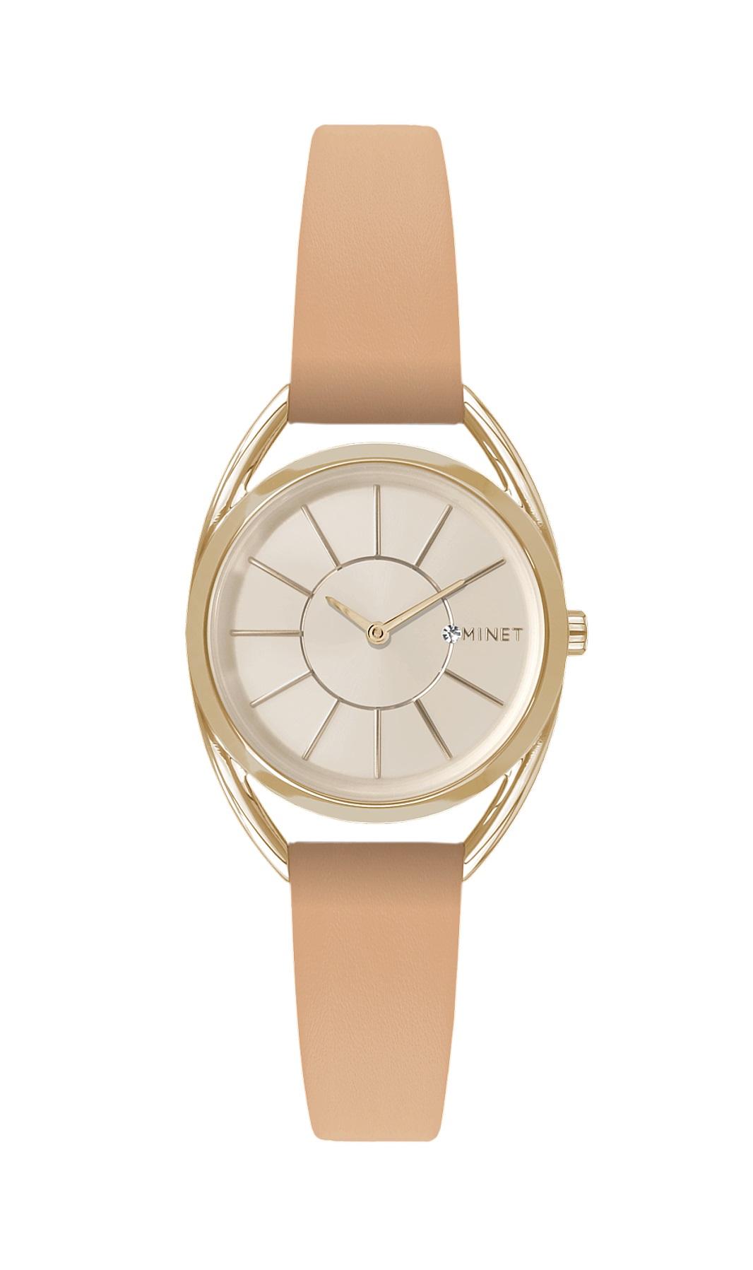 Světle hnědé dámské hodinky MINET ICON VANILLA LATTE MWL5022 (POŠTOVNÉ ZDARMA!! )