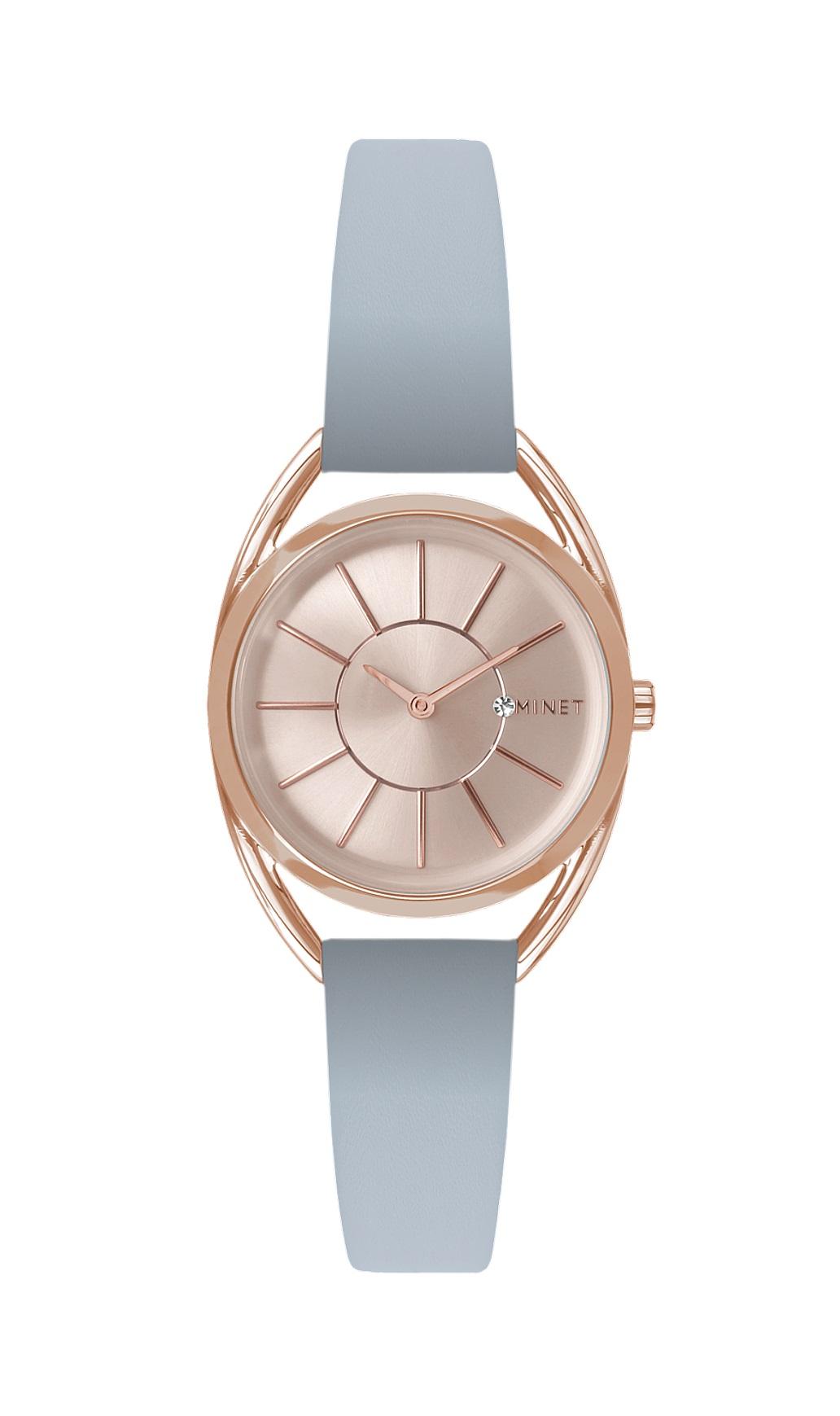 Šedo-růžové dámské hodinky MINET ICON SATIN GREY MWL5021 (POŠTOVNÉ ZDARMA!! )