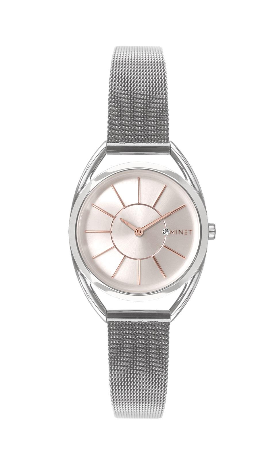 Stříbrné dámské hodinky MINET ICON SILVER ROSE MESH MWL5010 (POŠTOVNÉ ZDARMA!! )