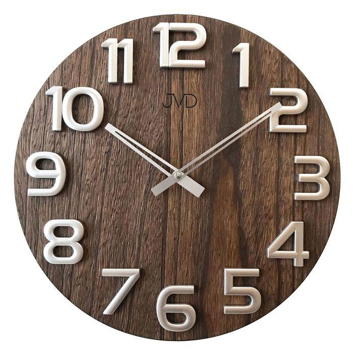 Nástěnné dřevěné hodiny JVD HT97.3 s vystouplými číslicemi (POŠTOVNÉ ZDARMA!!)