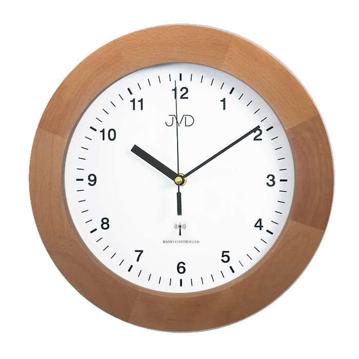 Dřevěné přesné rádiem řízené hodiny JVD RH2226/68 (POŠTOVNÉ ZDARMA!!)