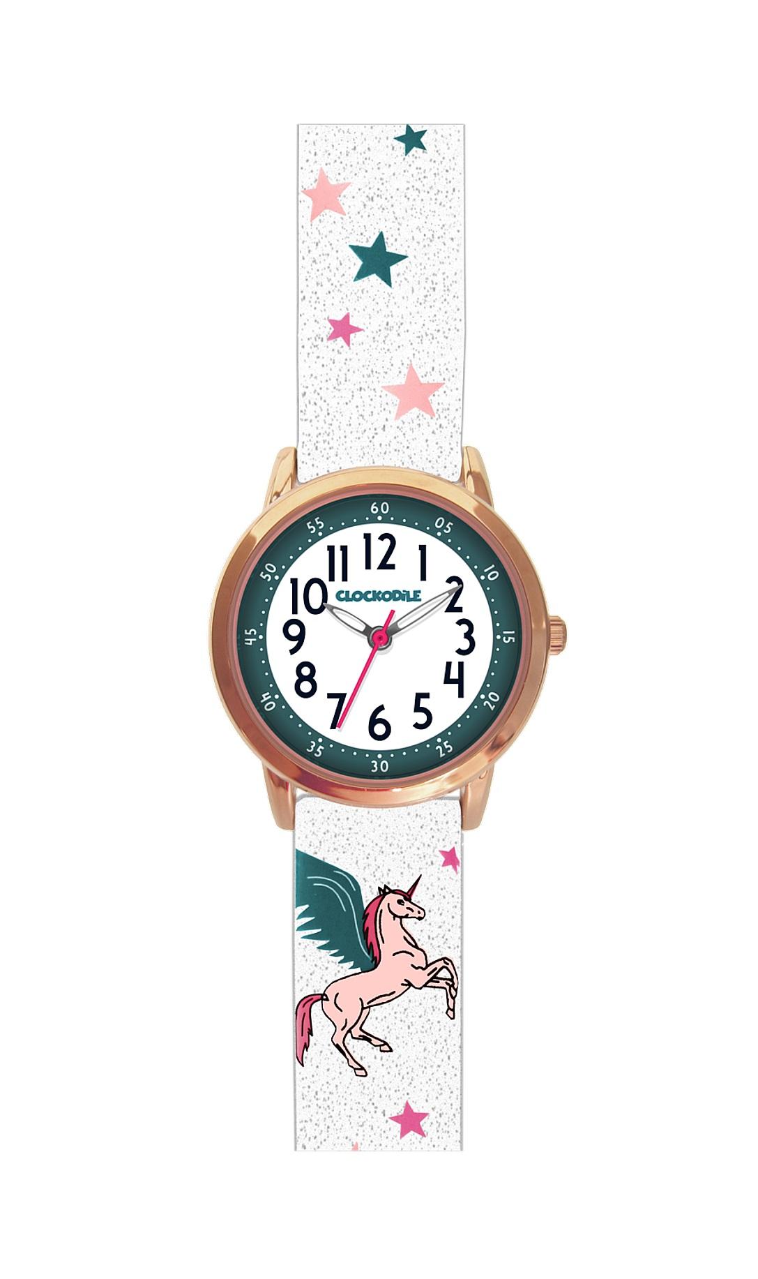 Třpytivé dívčí hodinky s růžovým jednorožcem CLOCKODILE UNICORNS CWG5030 (CWG5030)