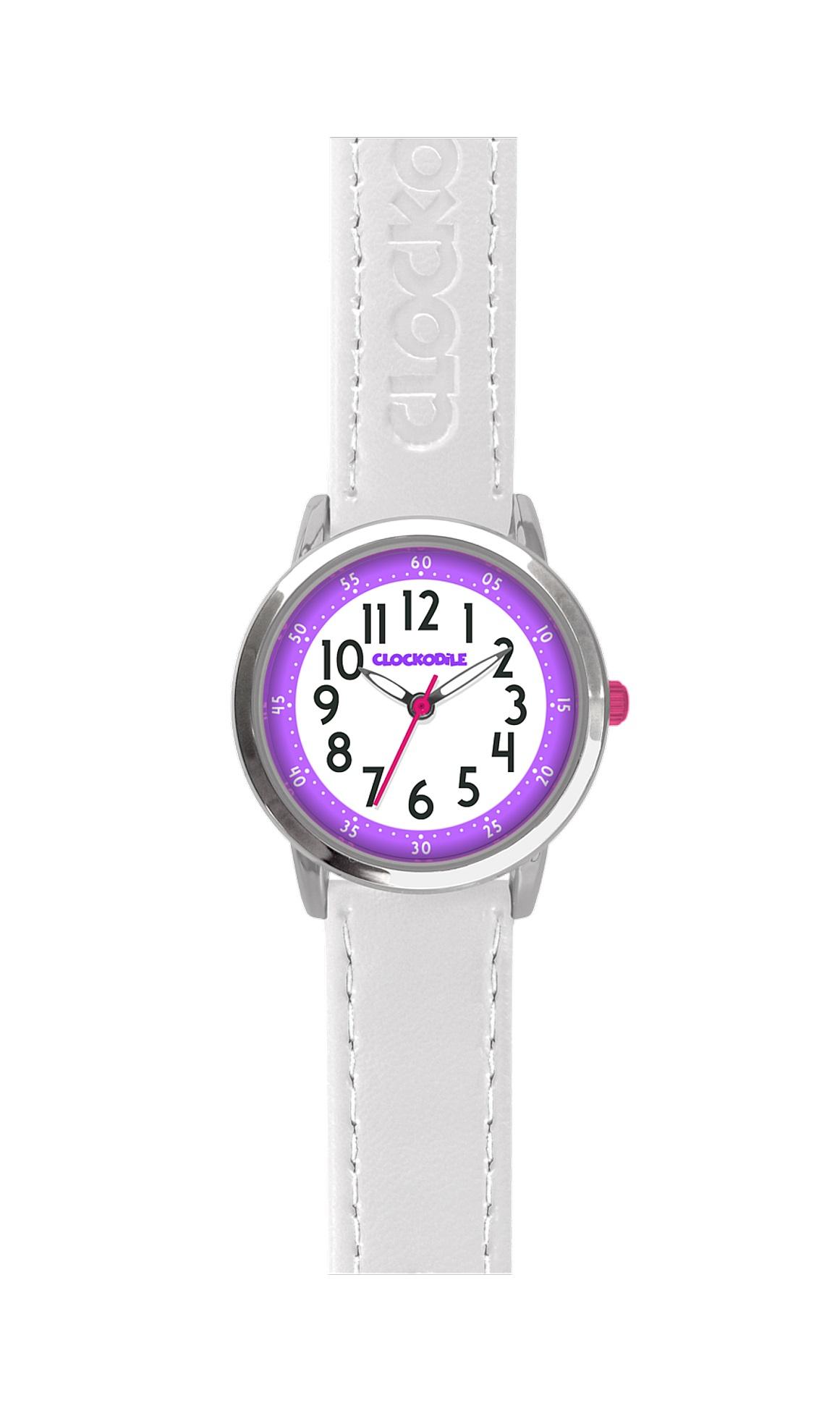 Bílé dívčí dětské hodinky CLOCKODILE COLOUR CWG5012