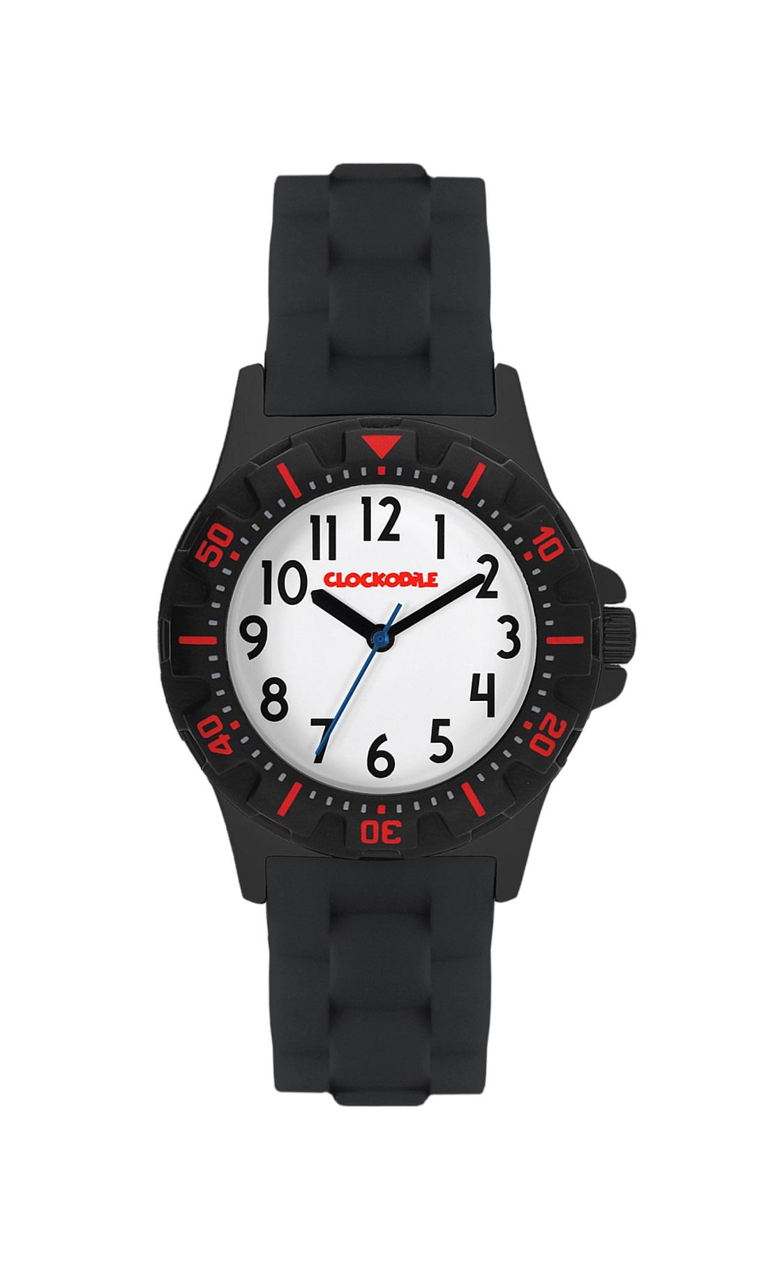 Černo-červené sportovní chlapecké hodinky CLOCKODILE SPORT CWB0021