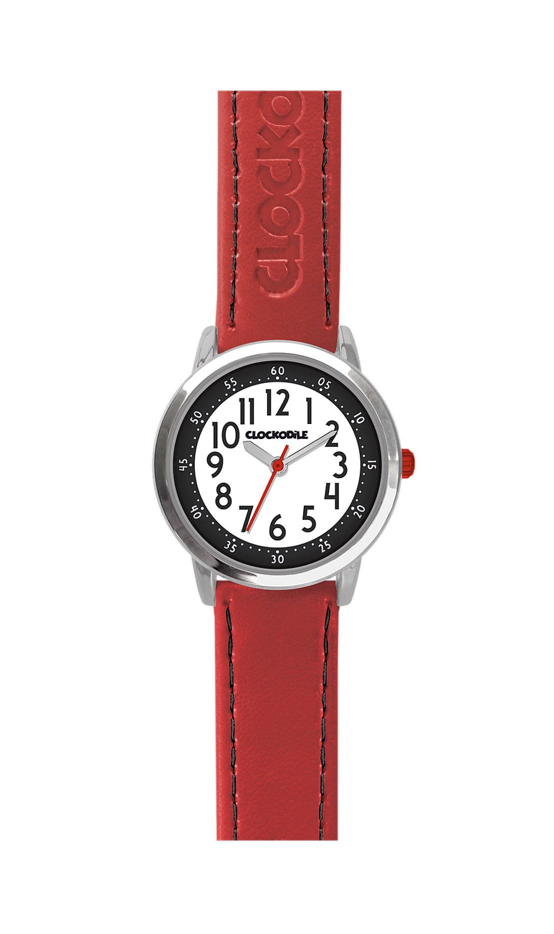 Dětské červené chlapecké hodinky CLOCKODILE COLOUR CWB0010 (CWB0010 - dětské hodinky)