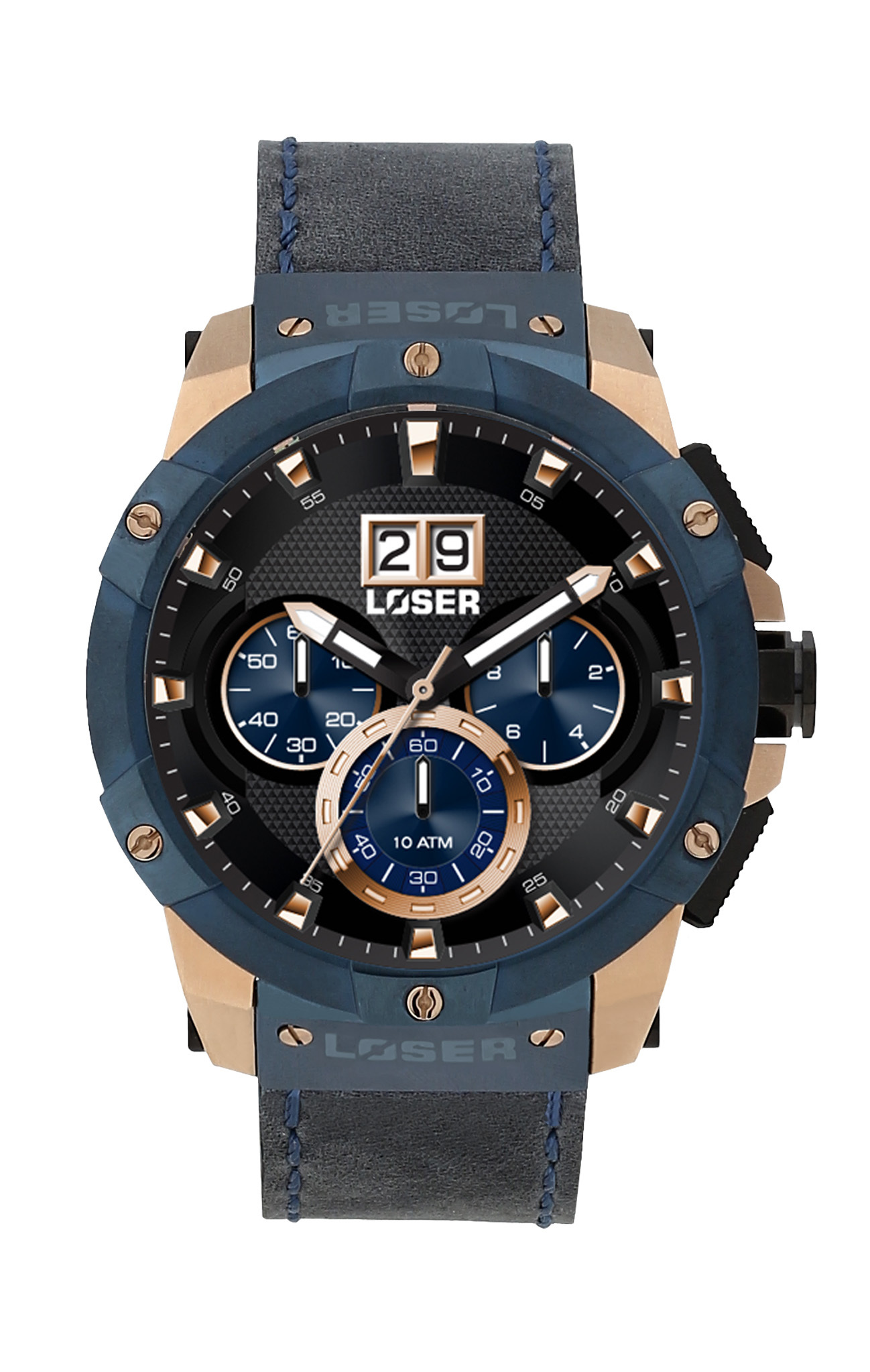 Luxusní nadčasové sportovní vodotěsné hodinky LOSER Vision NAVY BLUE LOS-V05 (POŠTOVNÉ ZDARMA!! )