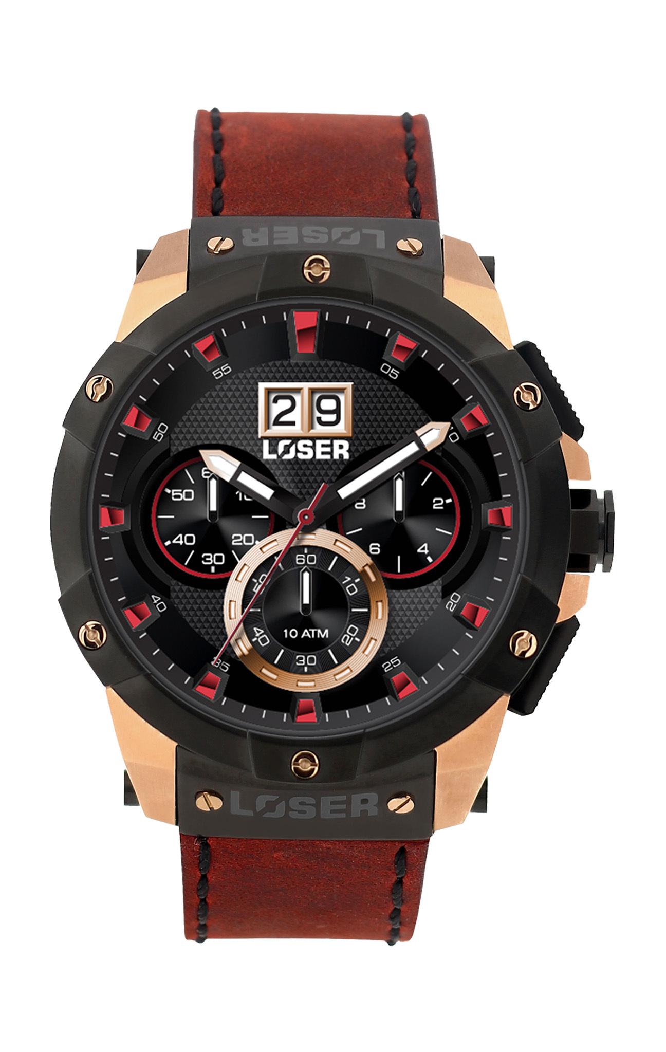Luxusní nadčasové sportovní vodotěsné hodinky LOSER Vision BORDEAUX RED LOS -V06 980007966c7
