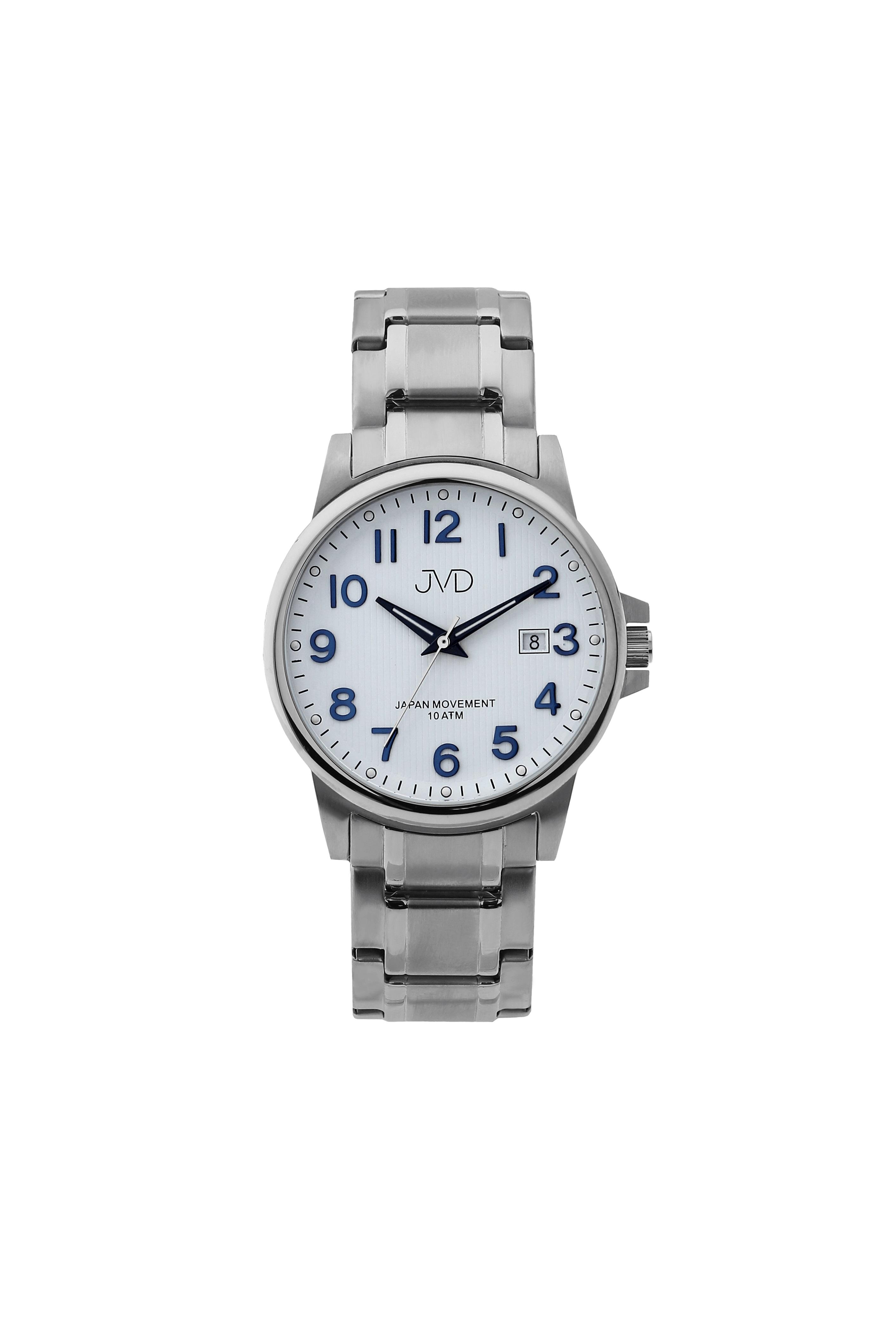 Přehledné čitelné pánské vodotěsné náramkové hodinky JVD J1119.1 (POŠTOVNÉ ZDARMA!!)