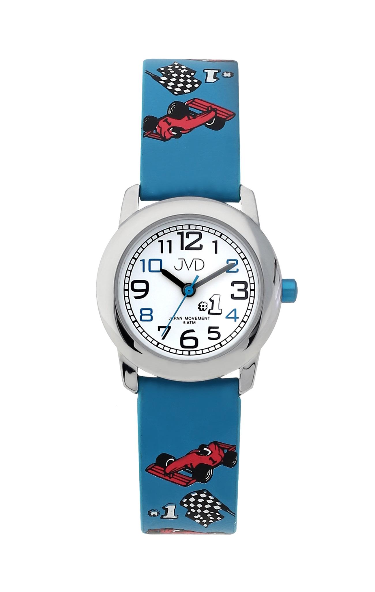 Chlapecké dětské náramkové hodinky JVD J7182.2 s formulí (modré s formulí)