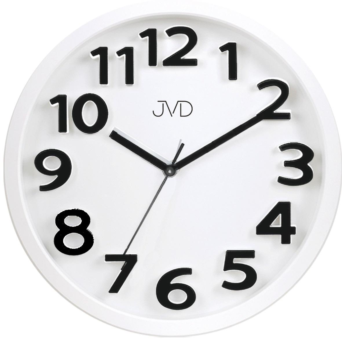 Bílé čitelné netikající tiché dětské hodiny JVD HA48.1
