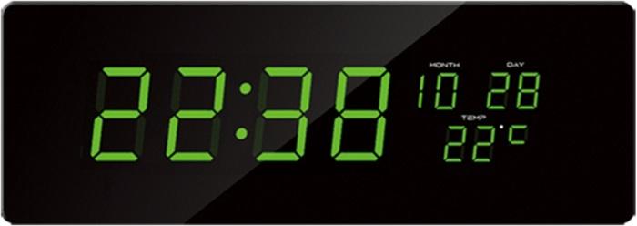 Velké svítící digitální moderní hodiny JVD DH2.1 se zelenými číslicemi (POŠTOVNÉ ZDARMA!!)