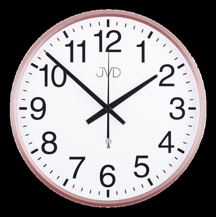 Rádiem řízené nástěnné hodiny JVD RH684.5 - řízené signálem DCF77 (Rádiem řízené hodiny rose RH684.5)