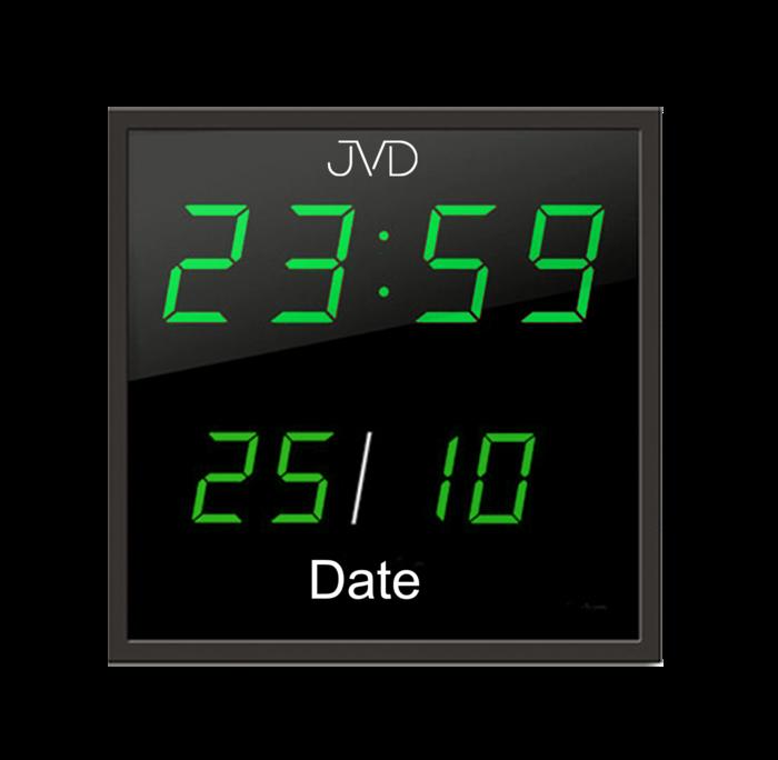 Velké svítící digitalní nástěnné hodiny JVD DH41.1 se zelenými číslicemi (POŠTOVNÉ ZDARMA)