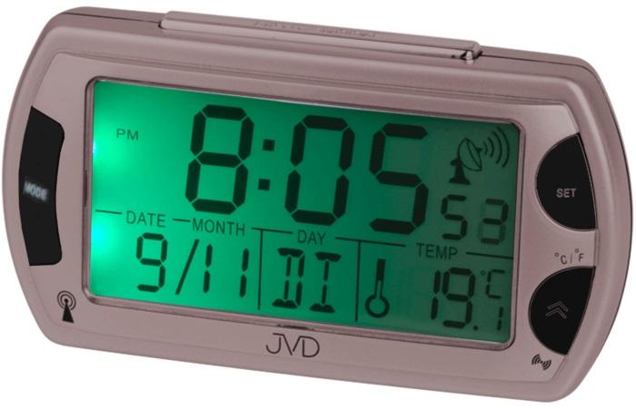Rádiem řízený digitální budík JVD RB358.11 s teploměrem a podsvícením ( )