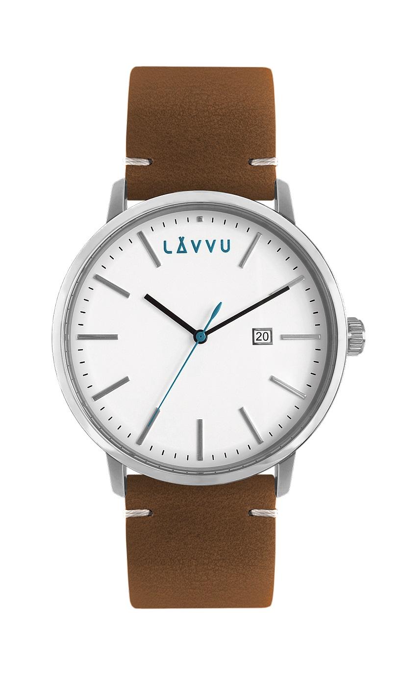 Hnědé pánské hodinky LAVVU COPENHAGEN STREETS s koženým páskem LWM0030 (POŠTOVNÉ ZDARMA!!! LWM0030)
