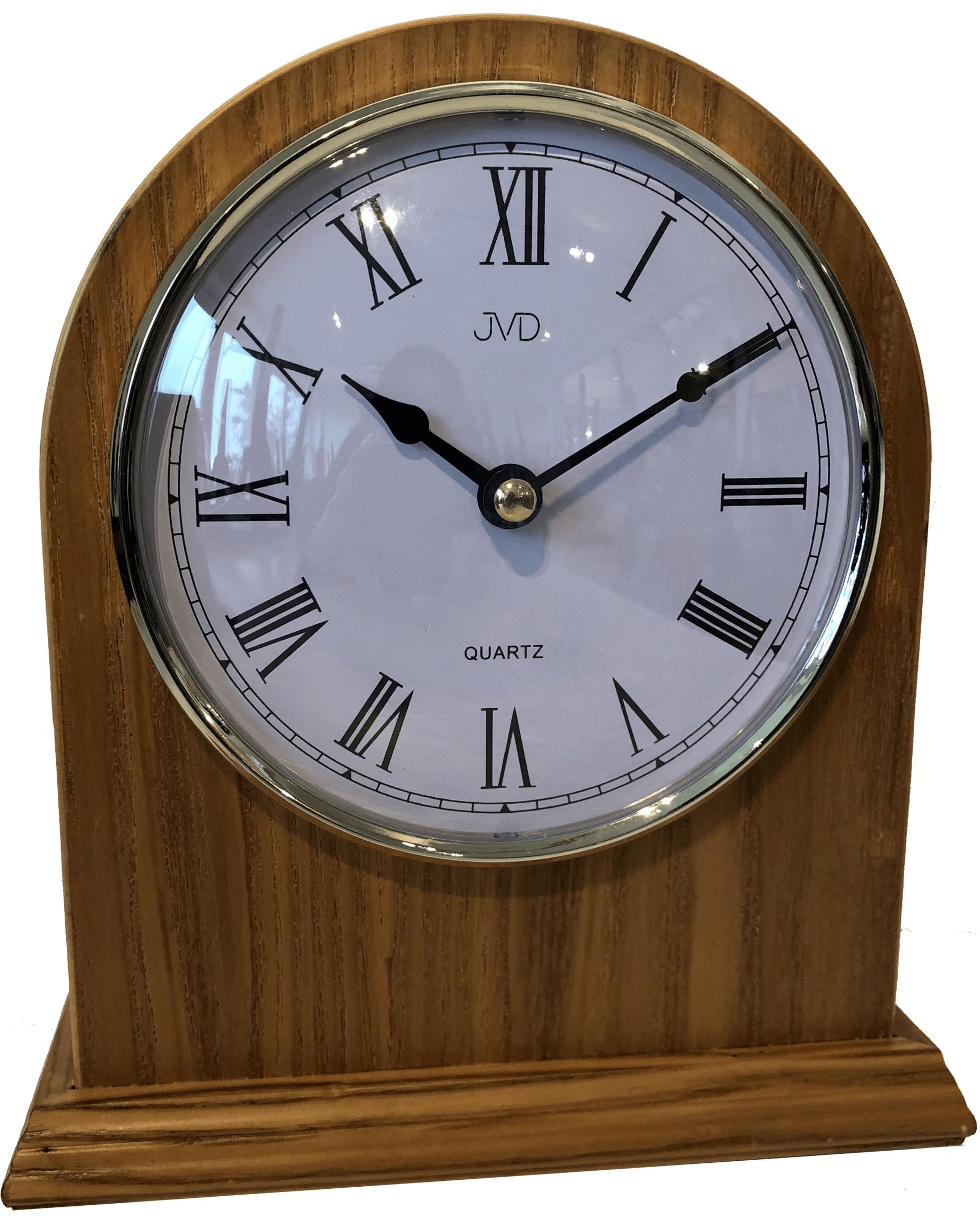 Dřevěné stolní hodiny JVD HS15.1 s římskými číslicemi (POŠTOVNÉ ZDARMA!!)