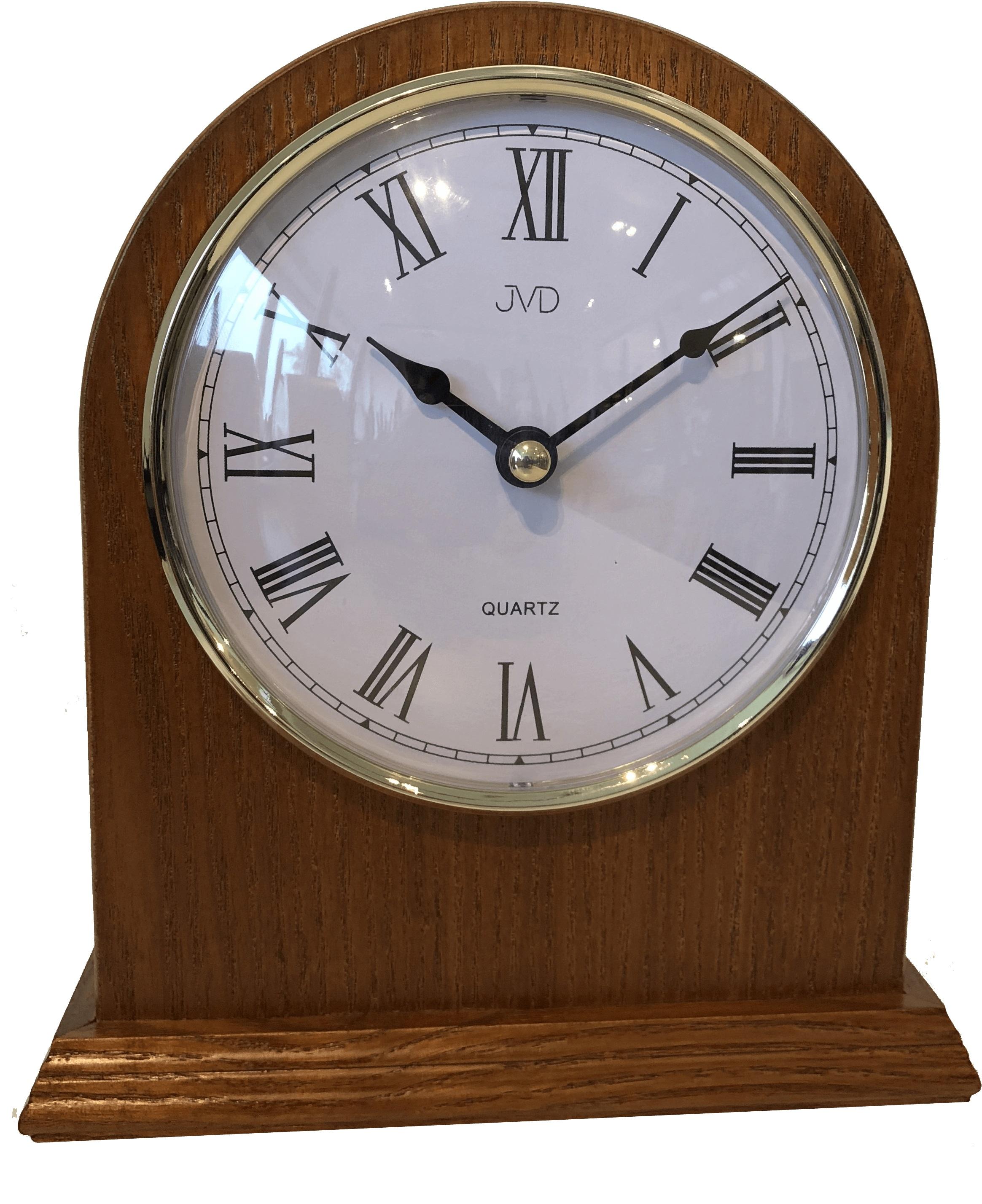 Dřevěné stolní hodiny JVD HS15.2 s římskými číslicemi (POŠTOVNÉ ZDARMA!!)