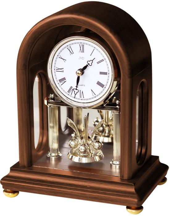 """Dřevěné stolní hodiny JVD HS18.2 (s točitými ročkami) (POŠTOVNÉ ZDARMA!! - retro styl """"ročky"""")"""