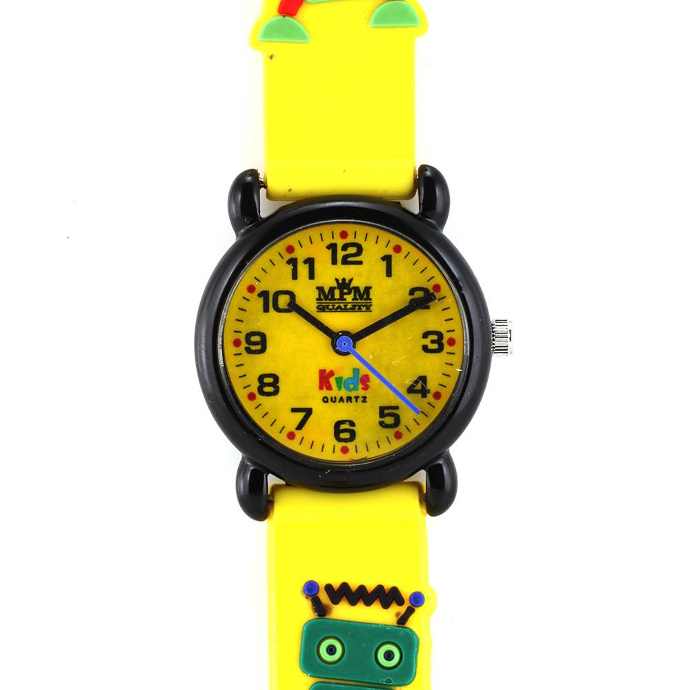 Dětské hodinky pro děti se žlutým pouzdrem a zvířátky MPM W05M.10273.D (W05M.10273.D )