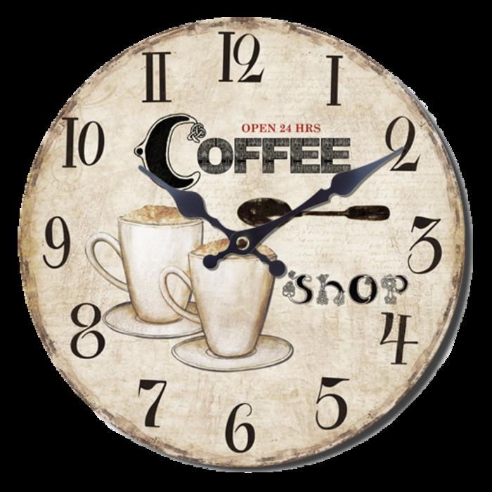 Nástěnné hodiny A la Campagne JVD NB1 s francouzským motivem (francouzský design hodin)