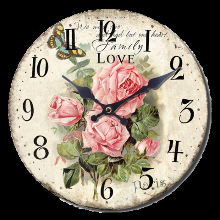 Nástěnné hodiny A la Campagne JVD NB2 s francouzským motivem (francouzský design hodin)