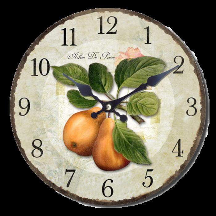 Nástěnné hodiny A la Campagne JVD NB5 s francouzským motivem (francouzský design hodin)