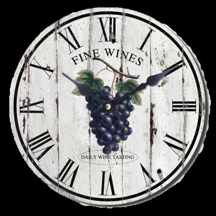 Nástěnné hodiny A la Campagne JVD NB7 s francouzským motivem (francouzský design hodin)