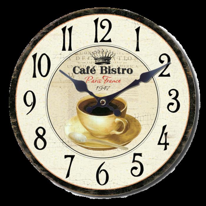 Nástěnné hodiny A la Campagne JVD NB9 s francouzským motivem (francouzský design hodin)
