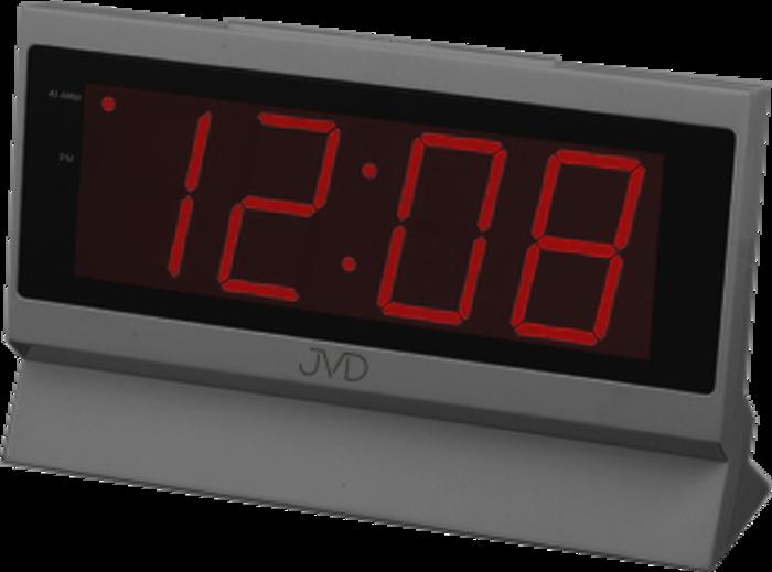 Digitální budík do sítě JVD červený SB1820.1 s velkými číslicemi
