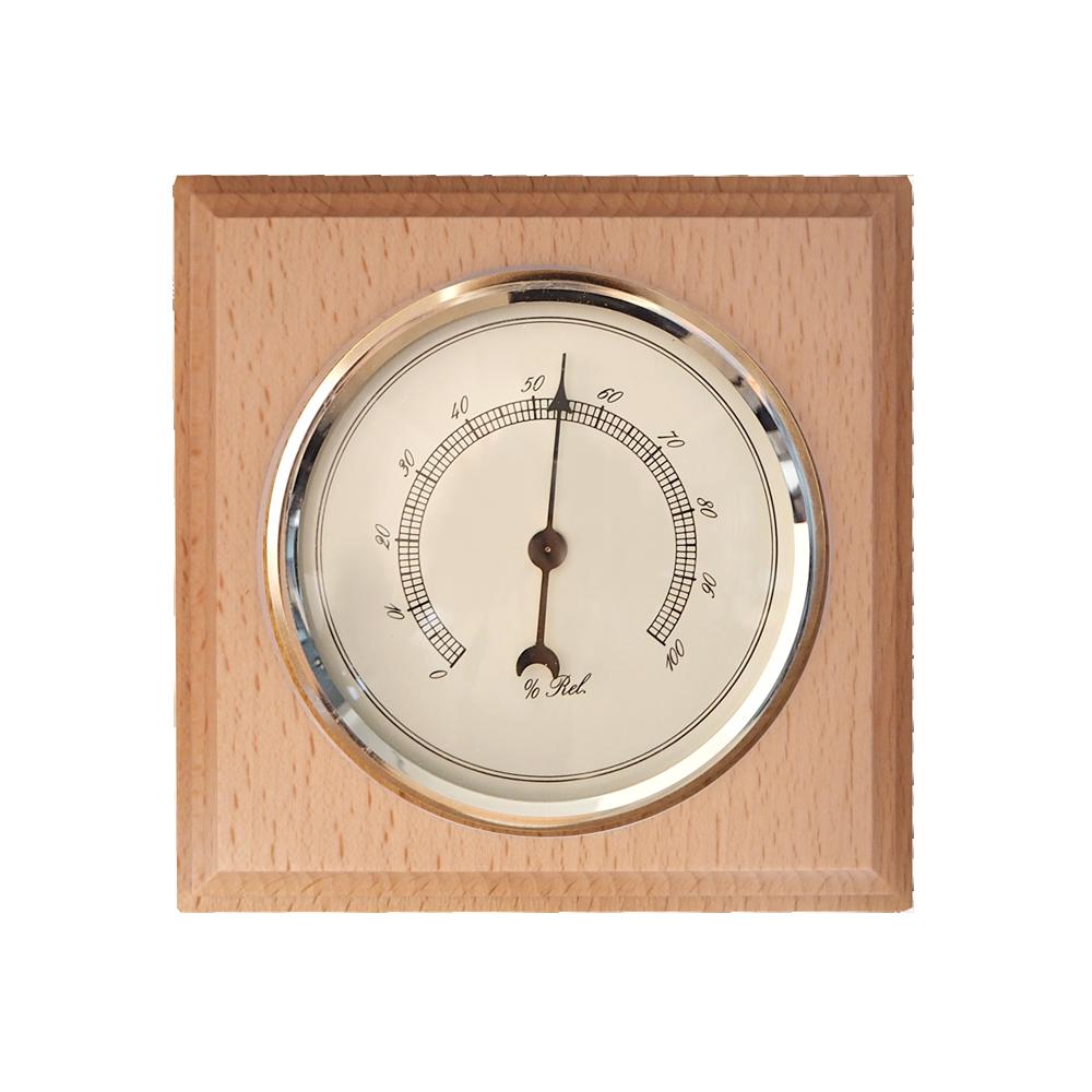 Dřevěný hranatý barometr JVD BA8/PRT s vlhkoměrem