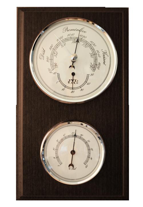 Dřevěný barometr JVD BA12/ORBHT s vlhkoměrem, teploměrem a předpovědí počasí (POŠTOVNÉ Z