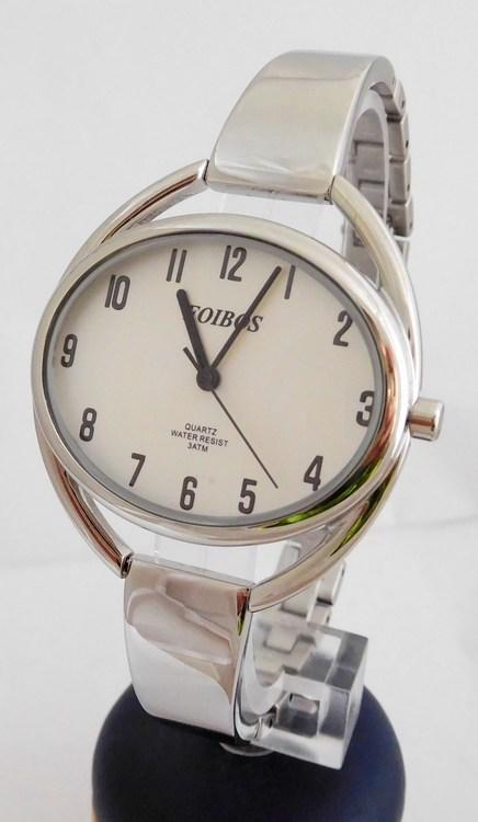 239e954e475 Stříbrné čitelné ocelové šperkové dámské hodinky Foibos 2892 ...