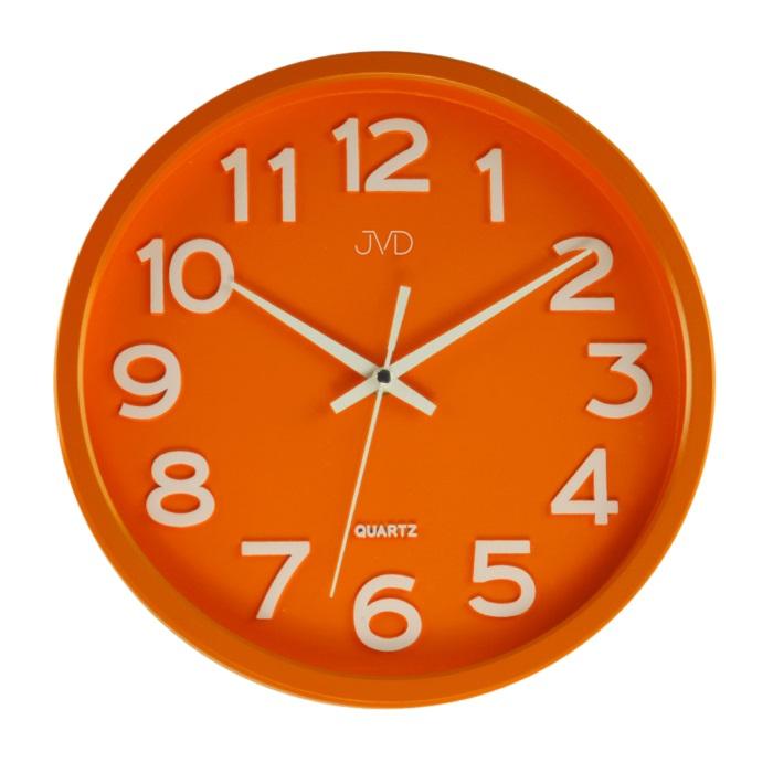 Plastové pastelové nástěnné tiché netikající dětské hodiny JVD HX2413.6