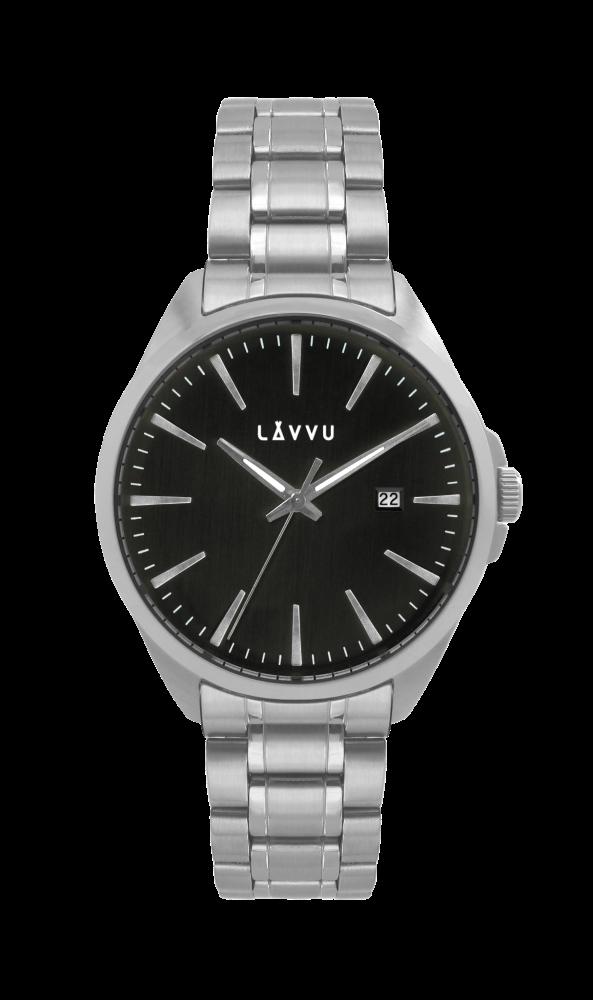 Stylové vodotěsné pánské hodinky LAVVU STAVANGER Black LWM0042 (POŠTOVNÉ ZDARMA!!! LWM0042)