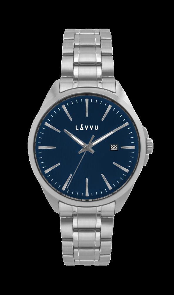 Vodotěsné stylové pánské hodinky LAVVU STAVANGER Blue LWM0041 (POŠTOVNÉ ZDARMA!!! LWM0041)