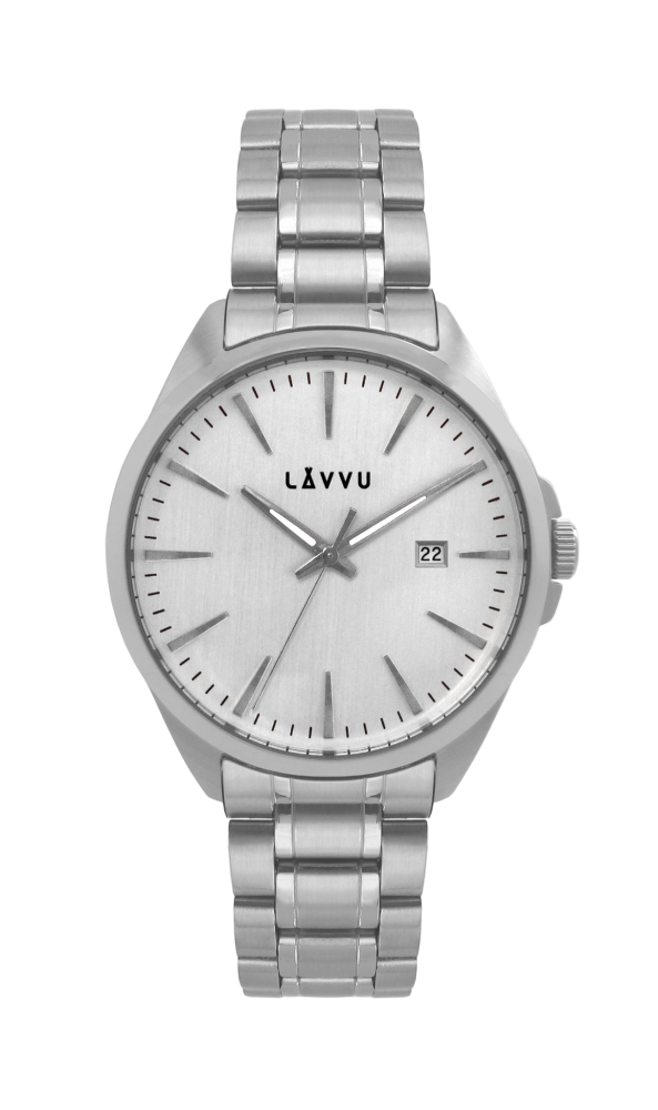Vodotěsné stylové pánské hodinky LAVVU STAVANGER Silver LWM0040 (POŠTOVNÉ ZDARMA!!! LWM0040)