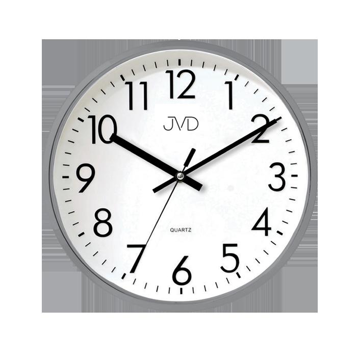 Šedé plastové nástěnné hodiny JVD HA43.2