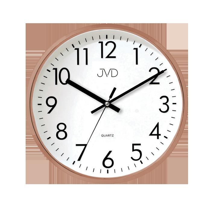 Kuchyňské plastové nástěnné hodiny JVD HA43.3 ROSEGOLD