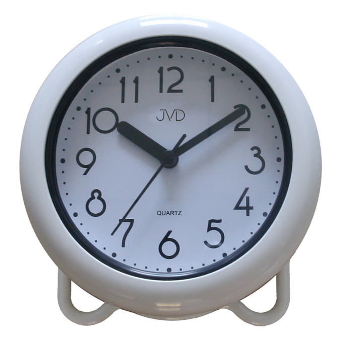 Bílé saunové hodiny JVD basic SH018 do koupelny či sauny